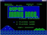 Super Mario Bros, with no real color support (in r