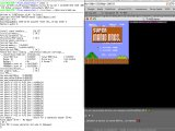 TI-NES 0.4 running on a distant Linux box (via ssh